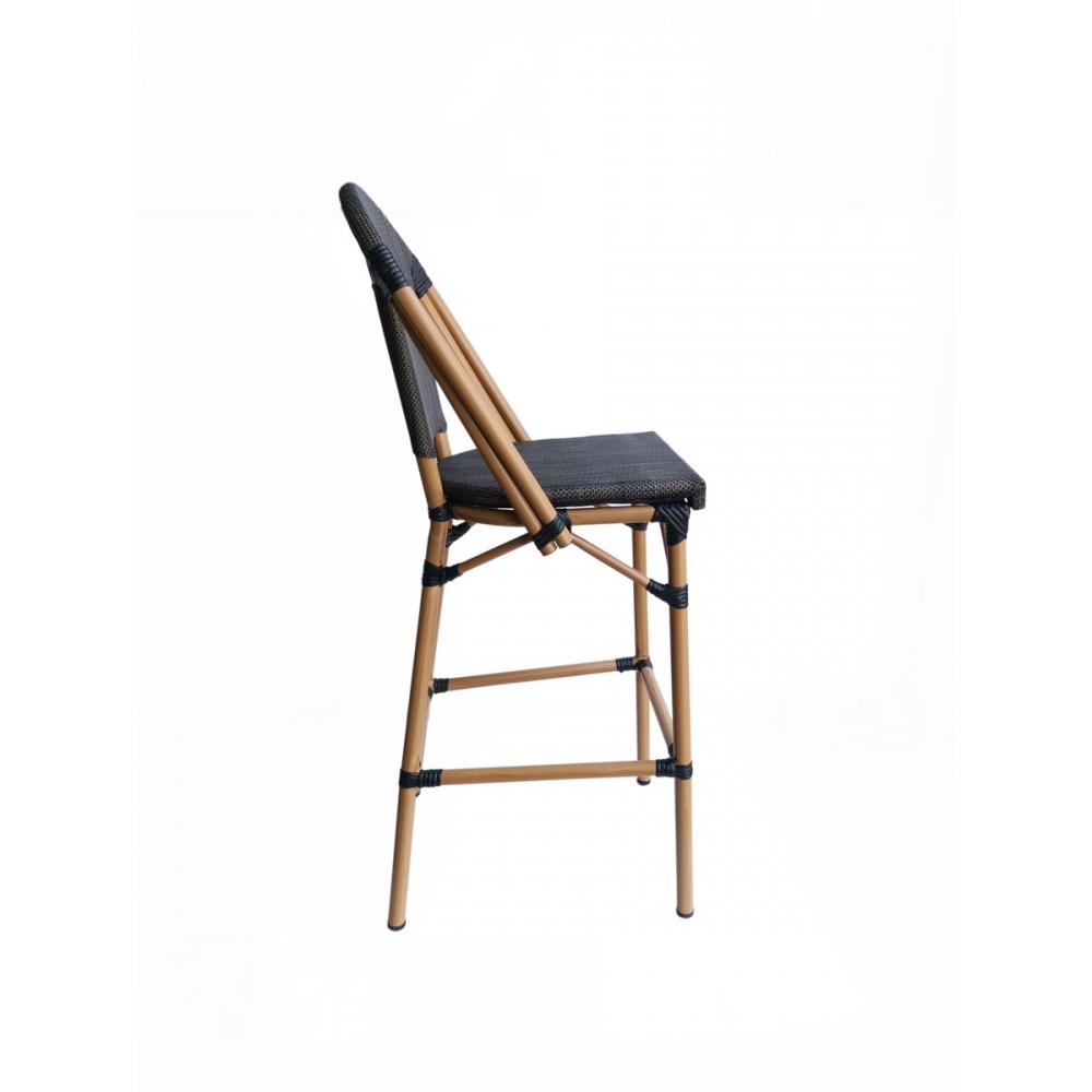 ergonomiška baro kėdė, medinė, su atlošu