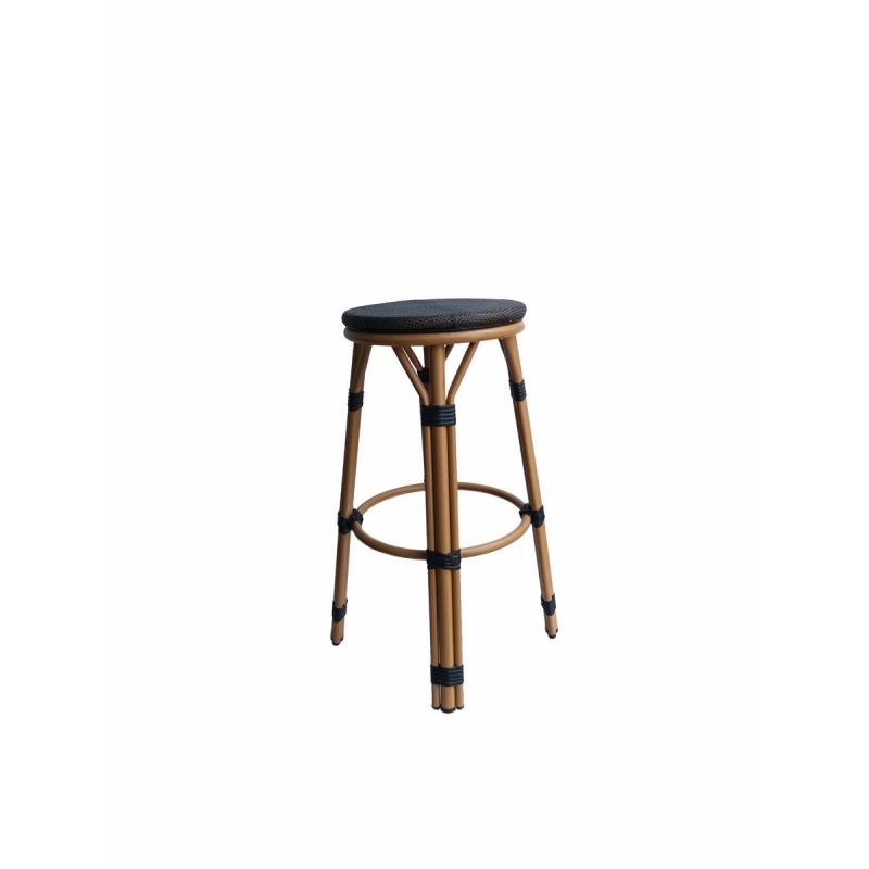patogi baro kėdė, pagaminta iš sintetinio PE ratano, pagaminta iš aliuminio rėmo