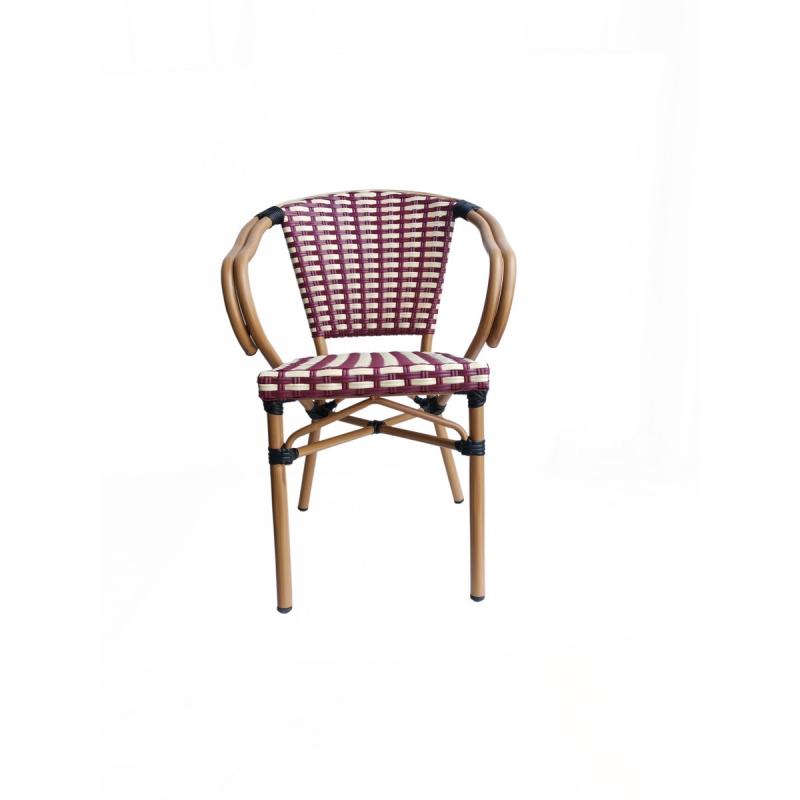 aliuminio rėmo kėdė, medinė, lauko kėdė