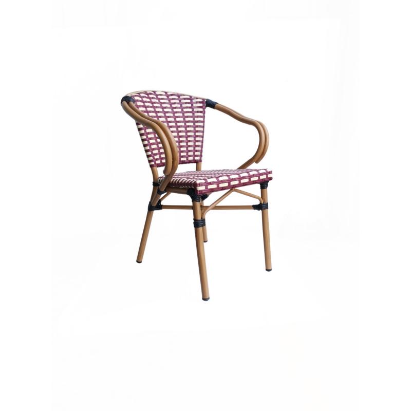 terasos kėdė, Vidaus ir lauko naudojimui, pagaminta iš sintetinio PE ratano