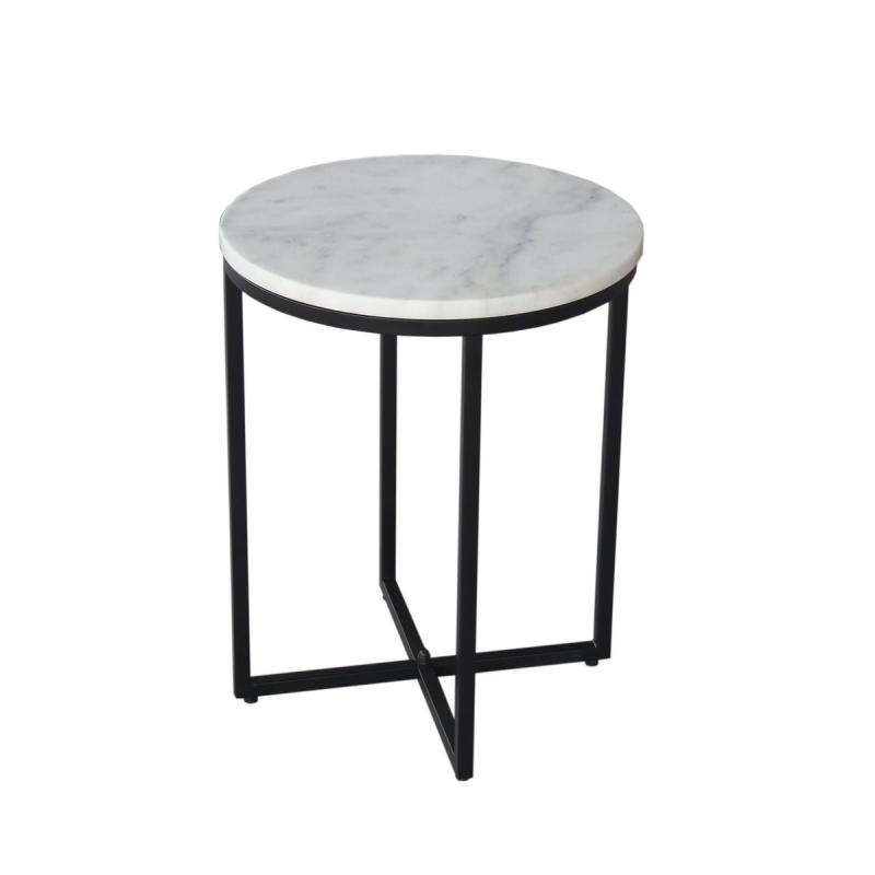 modernaus dizaino naktinis staliukas, metaliniu pagrindu