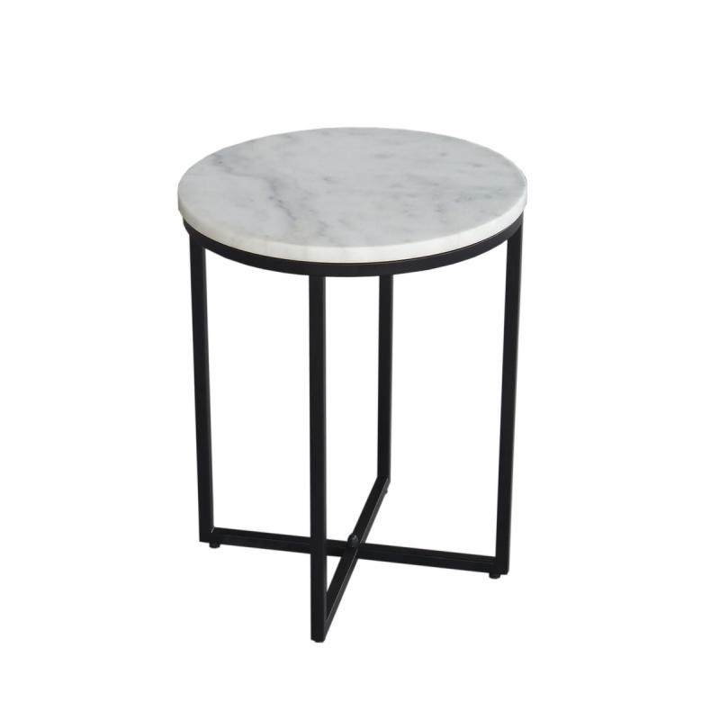 elegantiško stiliaus naktinis staliukas, baltas, juodas