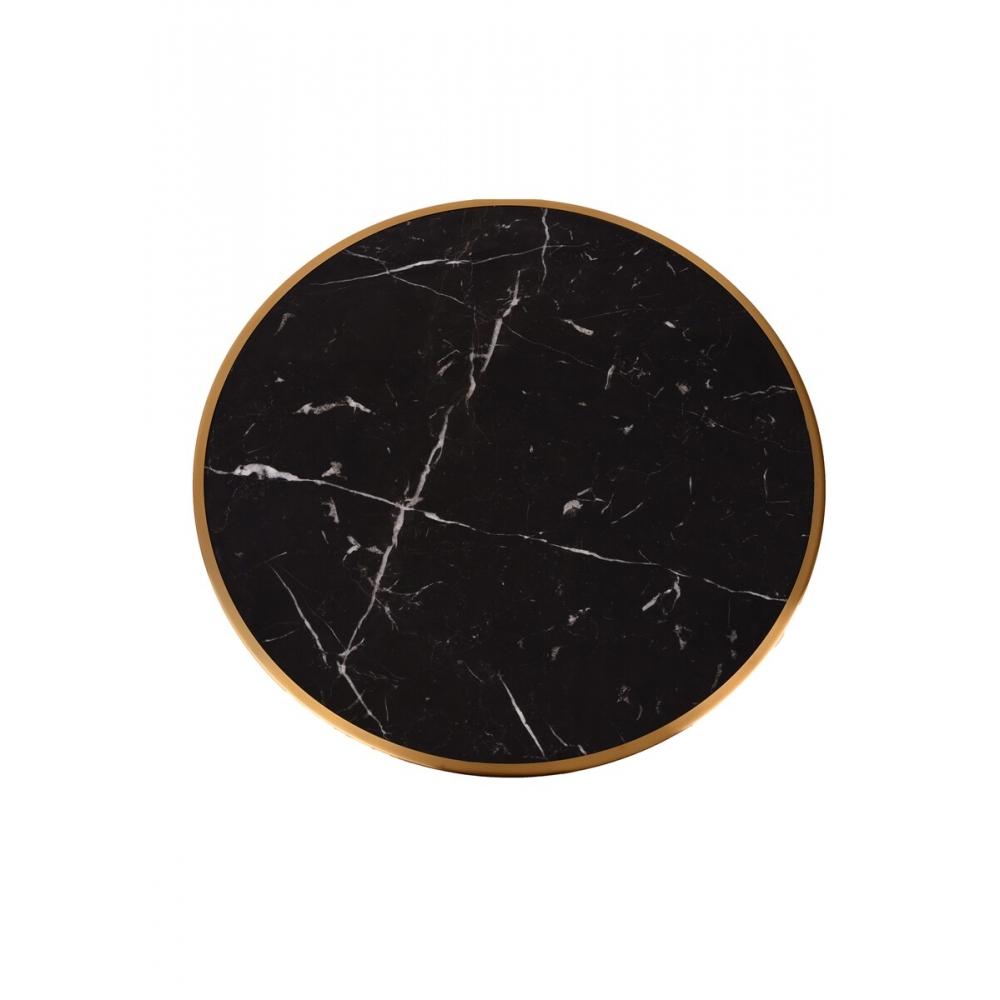 prabangaus stiliaus stalas, juodas ir auksinis, kokybiškas