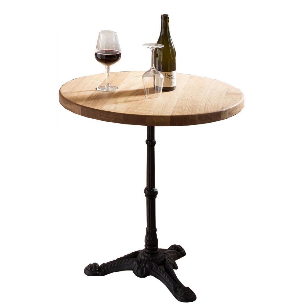 Apvalus stalas, aukštas, medinis