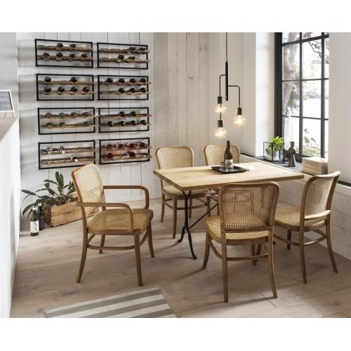 medinis stalas, 120x65 cm, šviesiai rudos spalvos