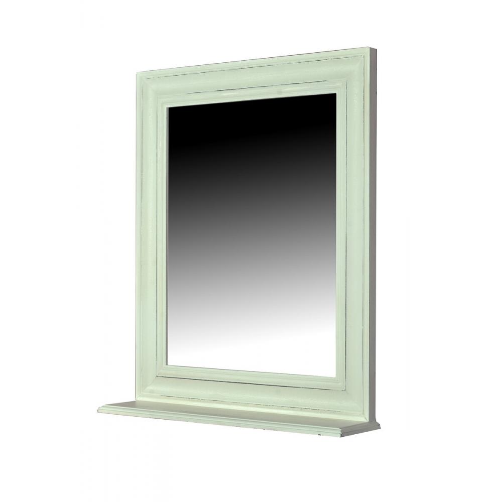 Baltas veidrodis, sendintas, klasikinio stiliaus