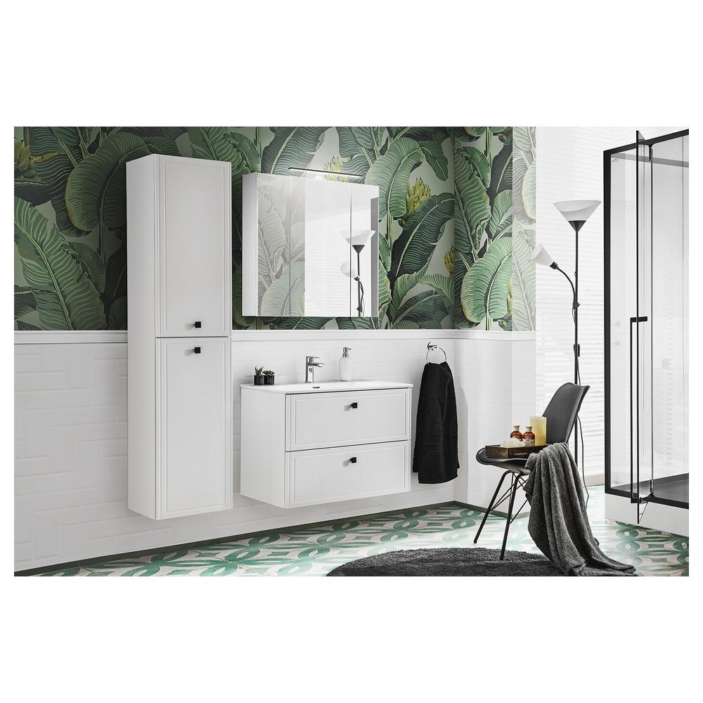 Vonios spintelė su praustuvu 826 HAVA WHITE