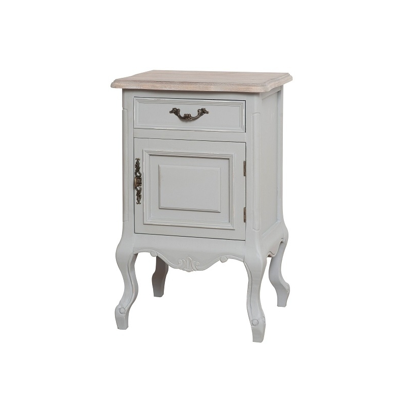 Naktinis staliukas / komodėlė CATANIA - provanso stiliaus spintelė prie miegamojo lovos