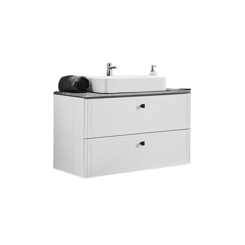 Vonios spintelė su praustuvu 821 HAVA WHITE