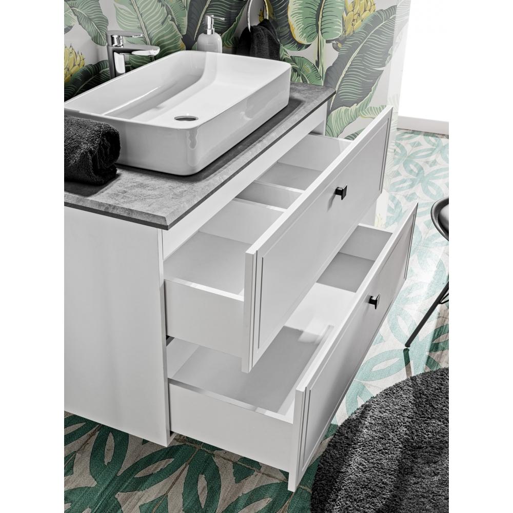 Vonios spintelė su praustuvu 828A HAVA WHITE