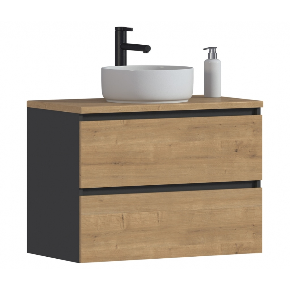 Pakabinama vonios spintelė su praustuvu 821B MONA GREY