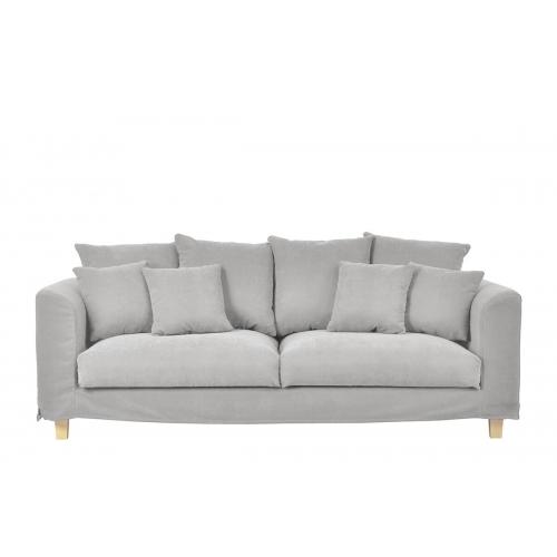 Sofa BRYO, šviesiai pilka, 215x93x90 cm