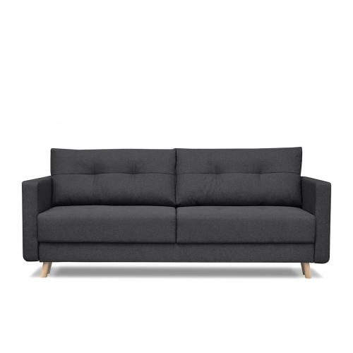 Sofa CONCO, tamsiai pilka, 218x92x91 cm