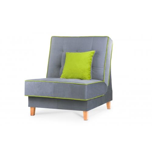 Fotelis DOZ, pilkas/žalias, 80x93x85 cm