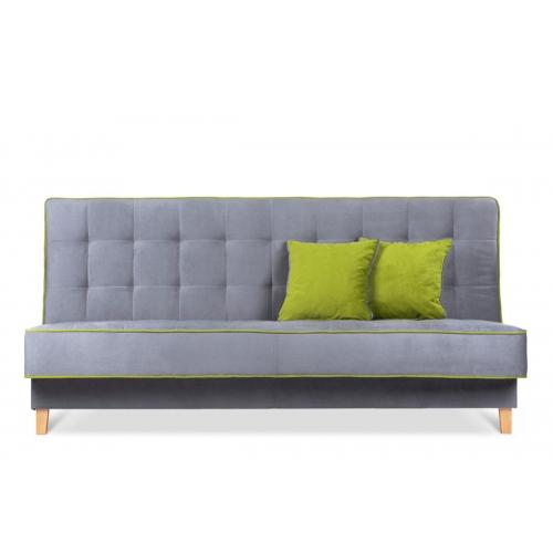 Sofa DOZ, pilka/žalia, 198x93x85 cm