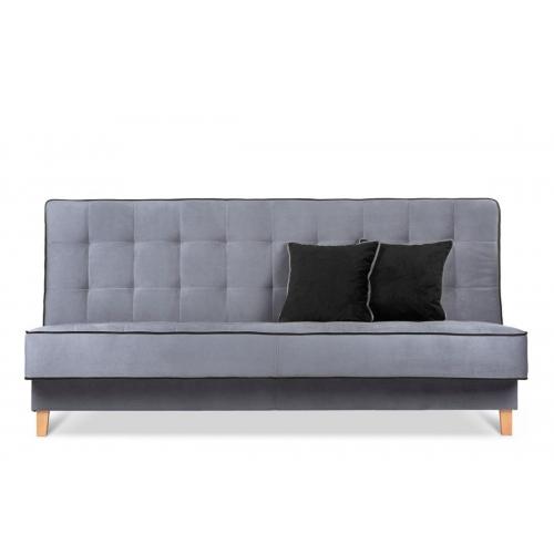 Sofa DOZ, pilka/juoda, 198x93x85 cm