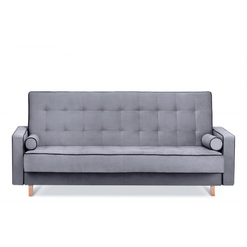 Sofa DOZ, pilka/juoda, 223x93x85 cm