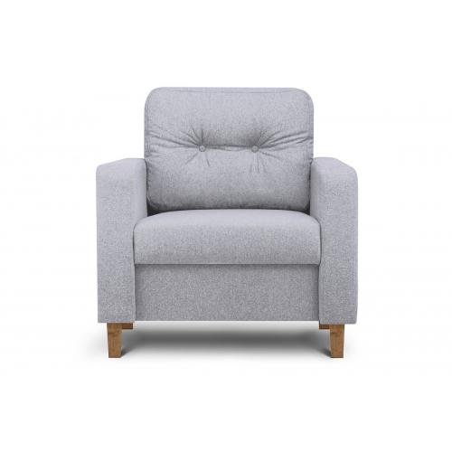 Fotelis ERIS, pelenų, 80x75x75 cm