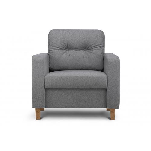 Fotelis ERIS, tamsiai pilkas, 80x75x75 cm