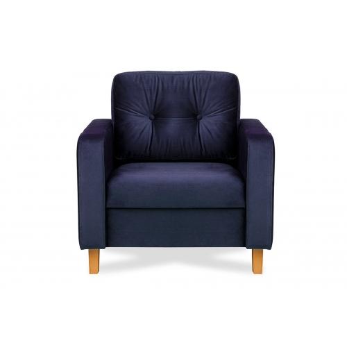 Fotelis ERIS, mėlynas, 80x75x75 cm