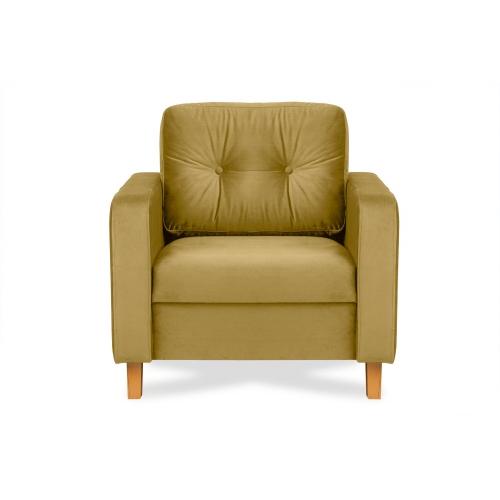Fotelis ERIS, šviesiai rudas, 80x75x75 cm