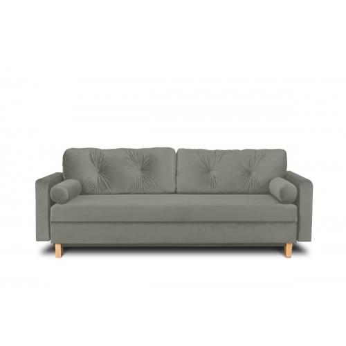 Sofa ERIS, šviesiai pilka, 230x100x80 cm