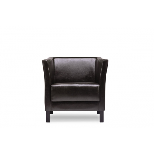 Fotelis ESPEC, tamsiai rudas, 74x67x71 cm