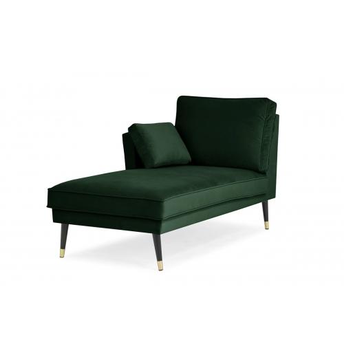 Kušetė FALC, žalia, kairinė/dešininė 156x86x91 cm