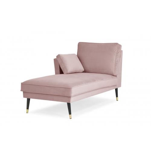 Kušetė FALC, rožinė, kairinė/dešininė 156x86x91 cm