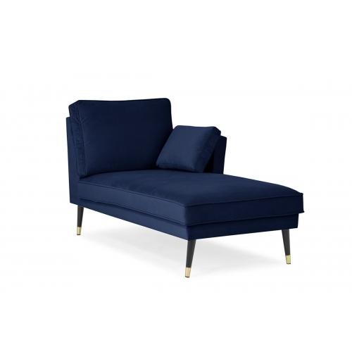 Kušetė FALC, mėlyna, kairinė/dešininė 156x86x91 cm