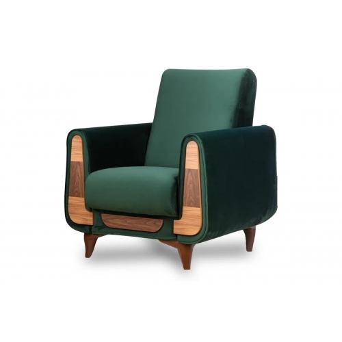 Fotelis GUSTA, žalias, 83x81x95 cm