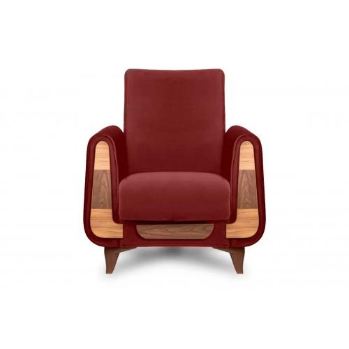Fotelis GUSTA, raudonas, 83x81x95 cm