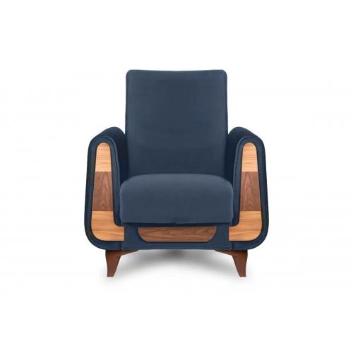 Fotelis GUSTA, mėlynas, 83x81x95 cm
