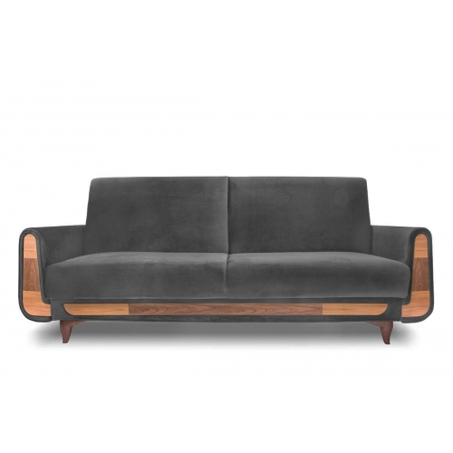 Sofa GUSTA, pilka, 230x98x98 cm