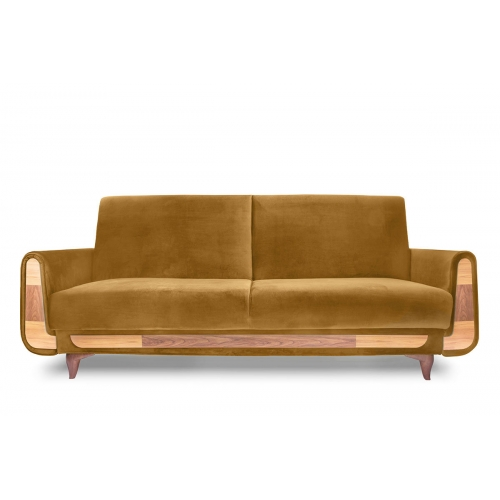 Sofa GUSTA, ruda, 230x98x98 cm