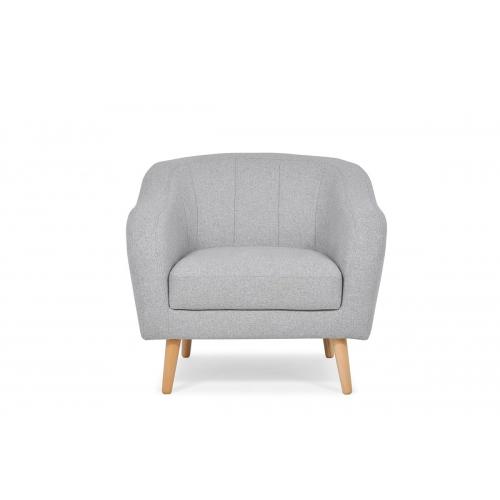 Fotelis HAMI, šviesiai pilkas, 93x90x83 cm