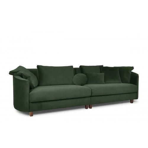 Sofa JUNA, žalia, 268x102x89 cm