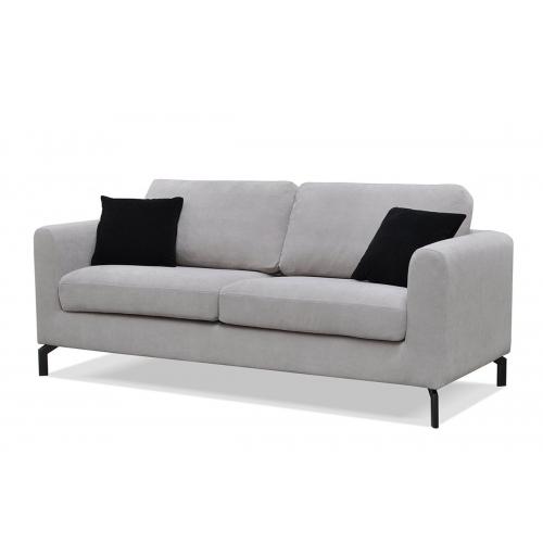 Sofa KAPA, šviesiai pilka, 190x88x85 cm