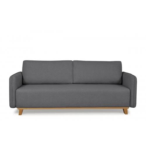 Sofa MARI, tamsiai pilka, 224x93x92 cm