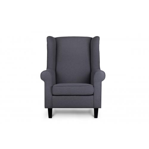 Fotelis MILE, tamsiai pilkas/juodas, 82x97x105 cm