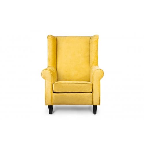 Fotelis MILE, geltonas/juodas, 82x97x105 cm
