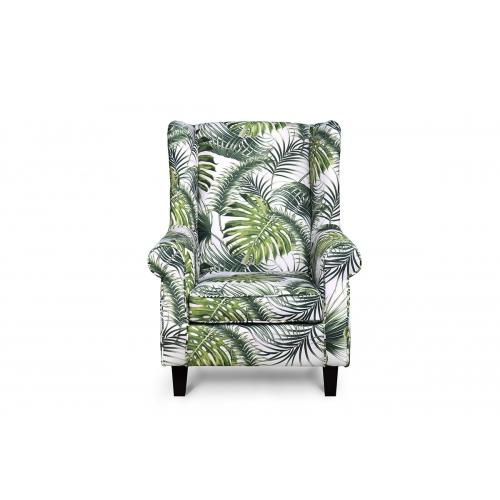 Fotelis MILE, baltas-žalias/juodas, 82x97x105 cm