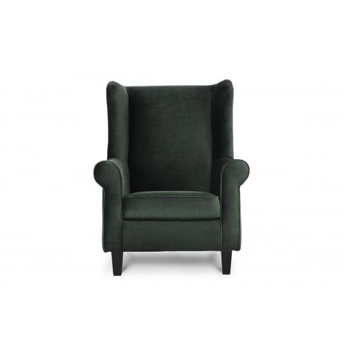 Fotelis MILE, žalias/juodas, 82x97x105 cm