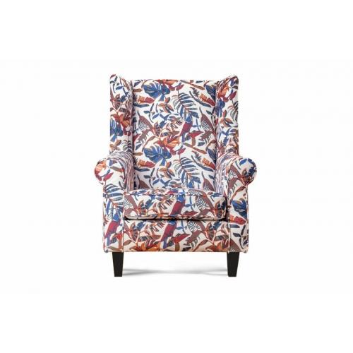 Fotelis MILE, įvairiaspalvis/juodas, 82x97x105 cm