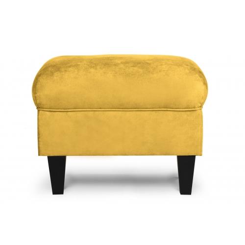 Pufas MILE, geltonas/juodas, 51x36x42 cm