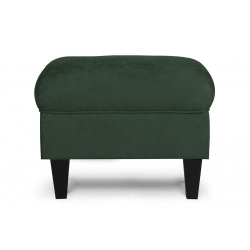 Pufas MILE, žalias/juodas, 51x36x42 cm
