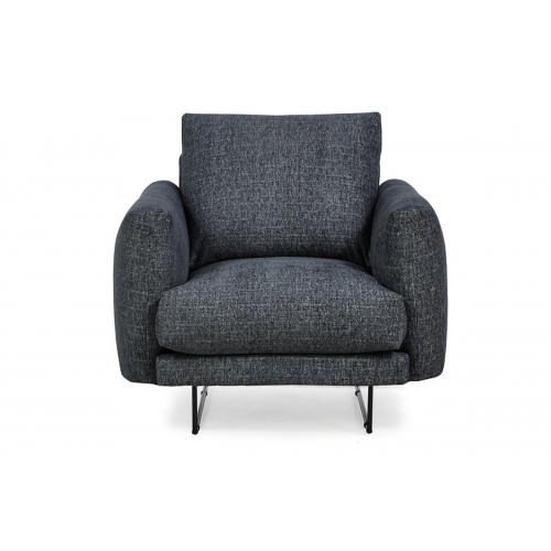 Fotelis MINU, tamsiai pilkas, 92x96x88 cm