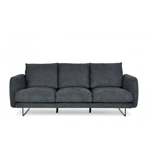Sofa MINU, tamsiai pilka, 217x96x88 cm