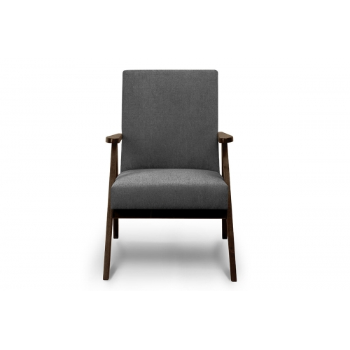 Fotelis NASE, pilkas, 60x75x90 cm