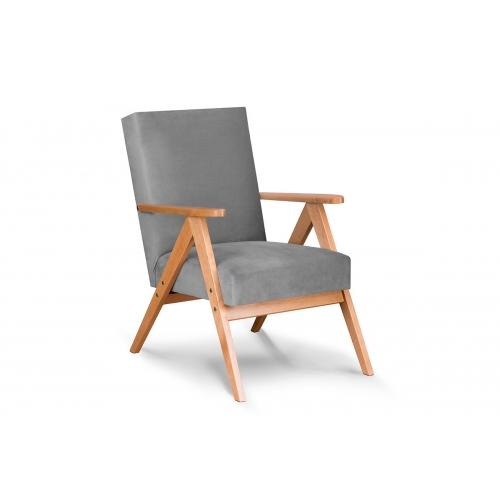 Fotelis NASE, šviesiai pilkas, 60x75x90 cm